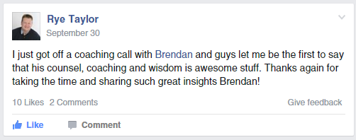 brendan hufford business coaching 1