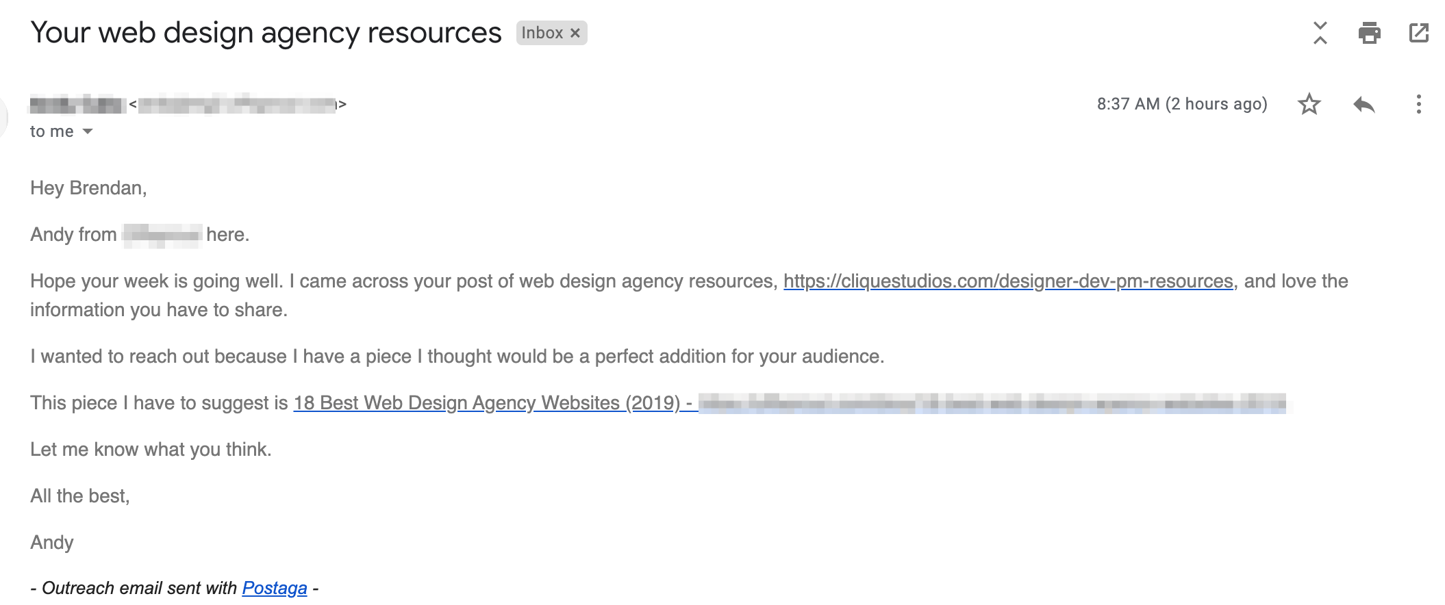 bad outreach email